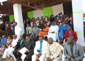 Leaders and pastors from a variety of churches at the reconciliation service