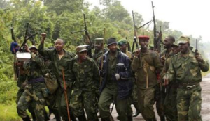 Rebel soldiers like these, led by war lords, came from within the DRC and neighboring countries