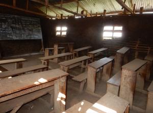 A public school classroom in Bunia